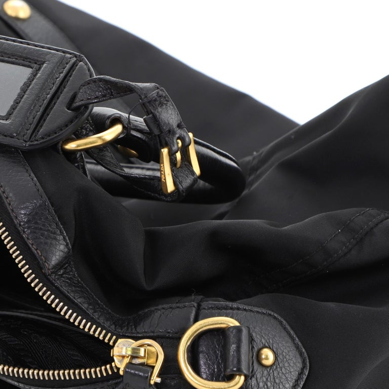 Prada Convertible Boston Bag Tessuto Large For Sale 3