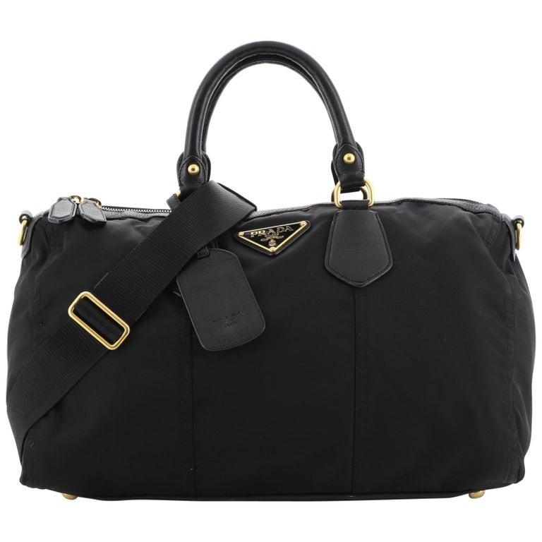 Prada Convertible Boston Bag Tessuto Large For Sale