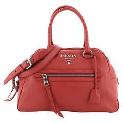 Prada Convertible Bowling Bag Vitello Daino Medium