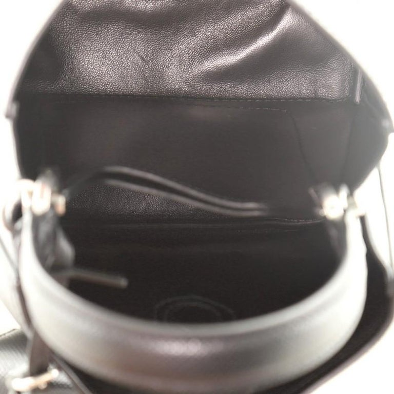 Women's or Men's Prada Convertible Bucket Bag Embellished Saffiano Leather Mini For Sale