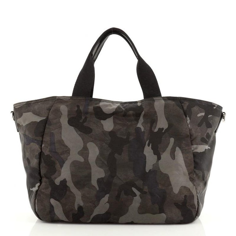 Prada Convertible Camouflage Pocket Tote Tessuto Large In Good Condition In New York, NY