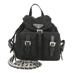 Prada Convertible Chain Backpack Tessuto Mini