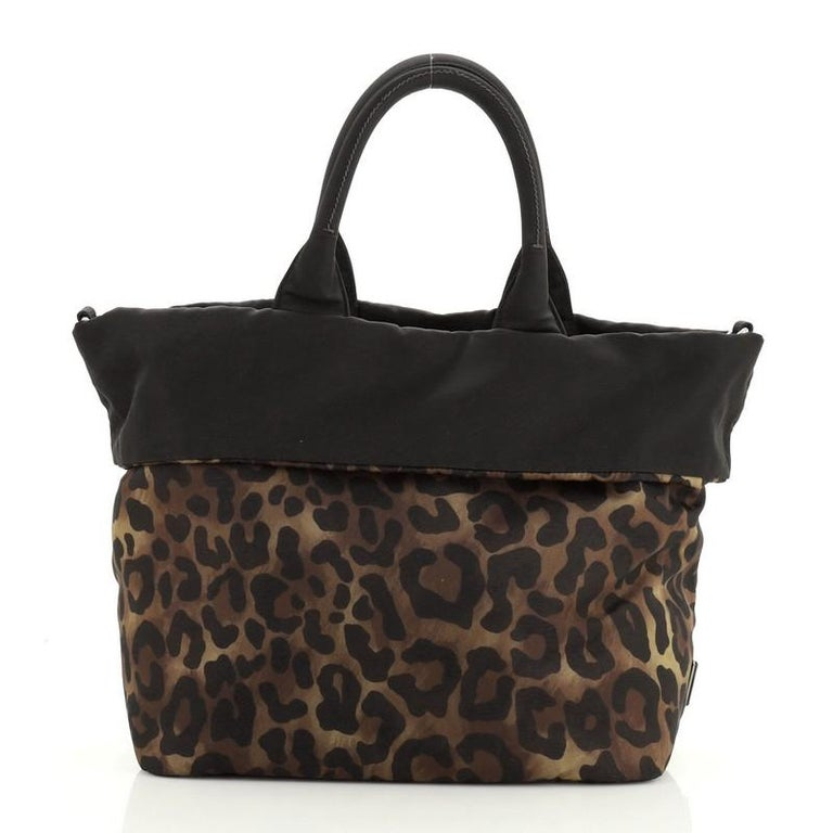 Prada Convertible Double Tote Printed Tessuto In Good Condition For Sale In New York, NY
