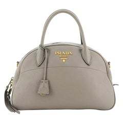 Prada Convertible Dual Strap Bowling Bag Vitello Daino Medium