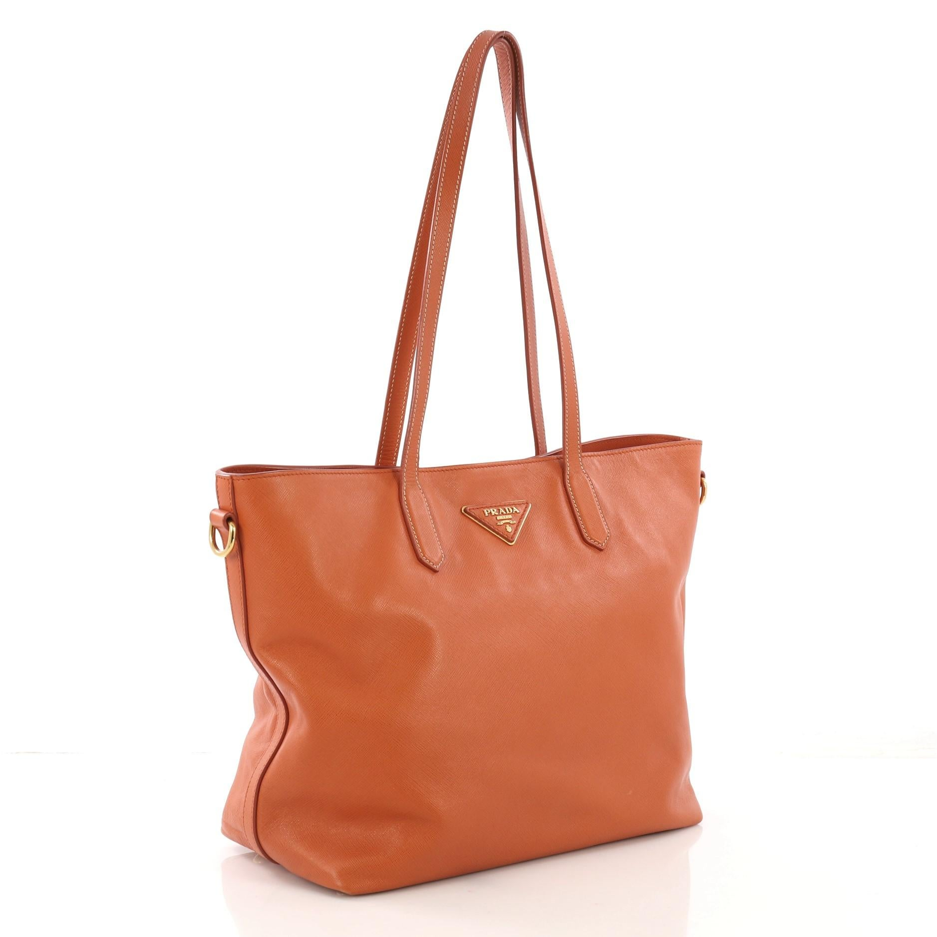 3e7fa43a2495 Prada Convertible Open Tote Saffiano Leather Medium For Sale at 1stdibs