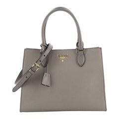 Prada Convertible Open Tote Saffiano Leather Small