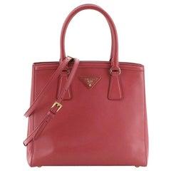 Prada Convertible Parabole Tote Saffiano Leather Small