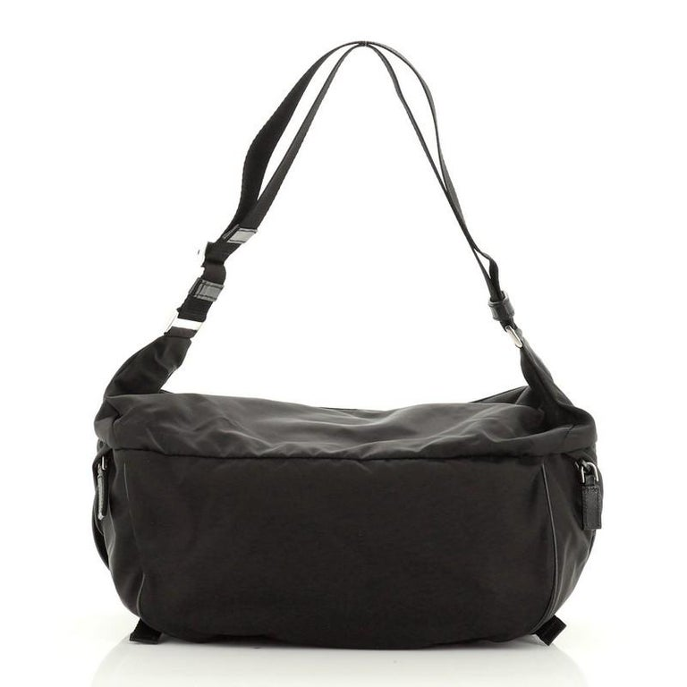 Prada Convertible Pocket Belt Bag Tessuto Medium In Good Condition For Sale In New York, NY