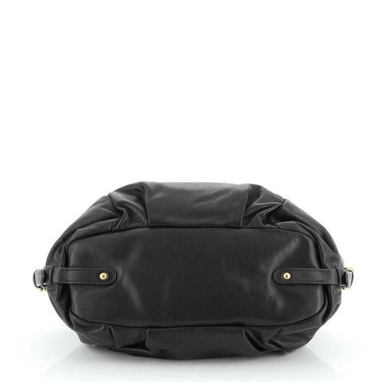 Women's or Men's Prada Convertible Pushlock Flap Satchel Leather For Sale