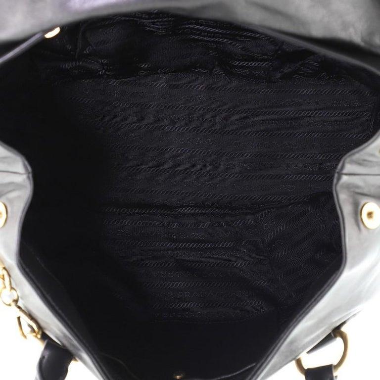 Prada Convertible Pushlock Flap Satchel Leather For Sale 1