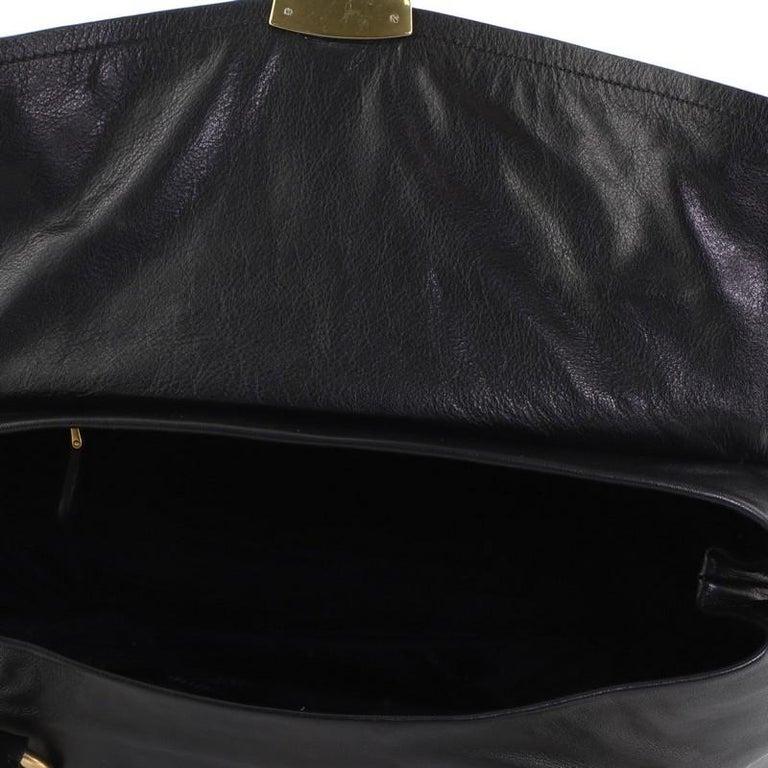 Prada Convertible Pushlock Flap Satchel Leather For Sale 2