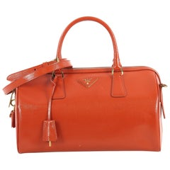 Prada Convertible Satchel Vernice Saffiano Leather Medium