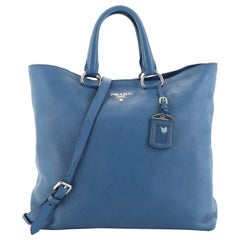 Prada Convertible Shopper Tote Vitello Daino Large