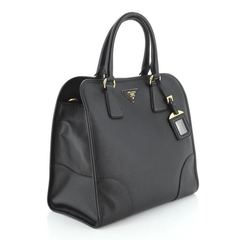 Prada Convertible Shopping Tote Saffiano Leather Large In Good Condition For Sale In New York, NY