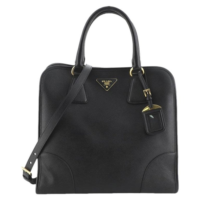 Prada Convertible Shopping Tote Saffiano Leather Large For Sale