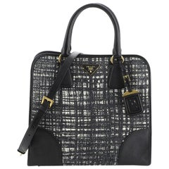 Prada Convertible Shopping Tote Tweed with Saffiano Large