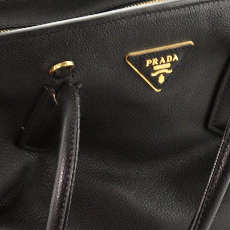 Prada Convertible Shopping Tote Vitello Daino Medium For Sale 2