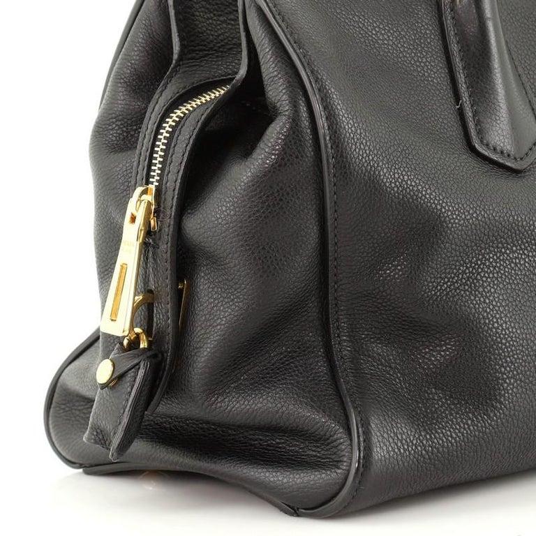 Prada Convertible Shopping Tote Vitello Daino Medium For Sale 3