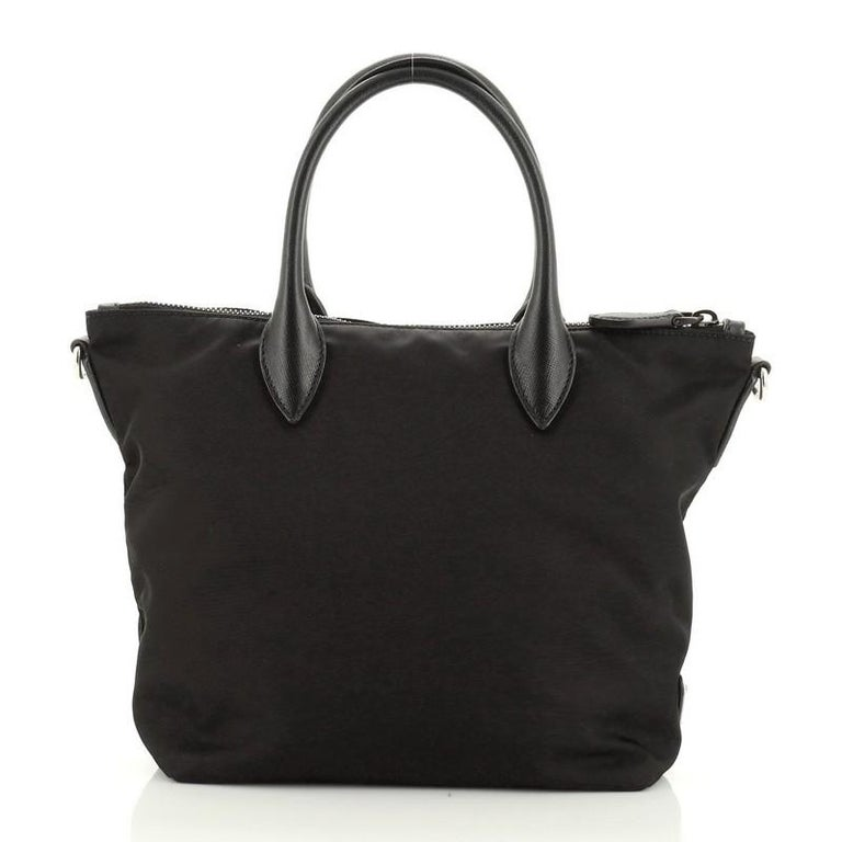 Prada Convertible Tote Beaded Tessuto Small In Good Condition For Sale In New York, NY