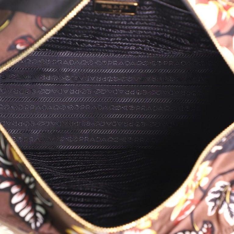 Prada Convertible Tote Printed Tessuto Large For Sale 2