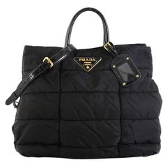 Prada Convertible Tote Quilted Tessuto Medium