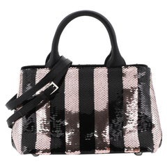 Prada Convertible Tote Sequin Embellished Satin Small