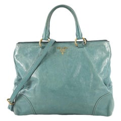 Prada Convertible Tote Vitello Shine Large