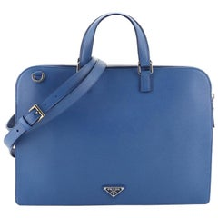 Prada Convertible Travel Briefcase Saffiano Leather
