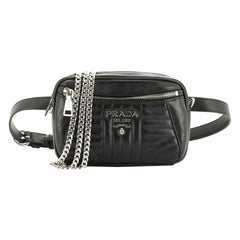 Prada Convertible Waist Bag Diagramme Quilted Leather Small