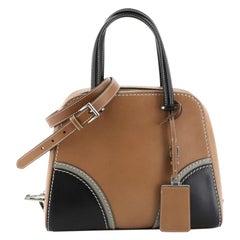 Prada Convertible Zip Around Satchel Vachetta Leather Medium