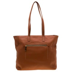 Prada Copper Leather Shopper Tote