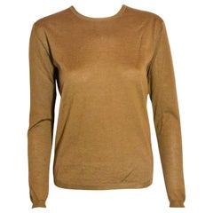 Prada Copper Long Sleeve Pullover Sweater