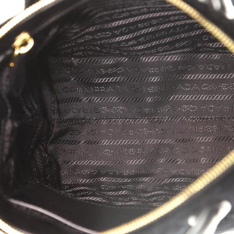 Prada Corsaire Convertible Zip Tote Quilted Velvet Small For Sale 1