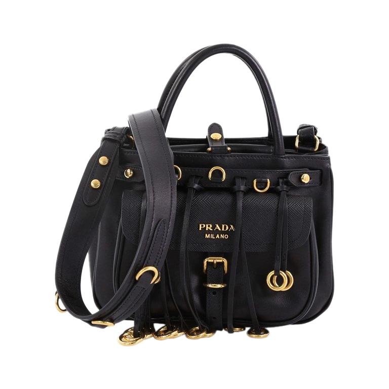 246606150c3a Prada Corsaire Pocket Tote City Calf and Saffiano Leather Small For Sale