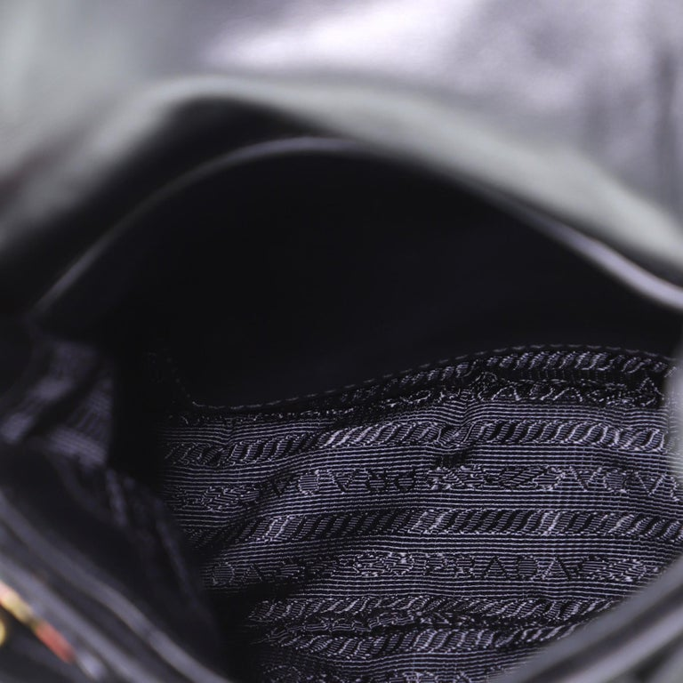 Prada Corsaire Shoulder Bag Quilted Velvet with Calfskin Small 2