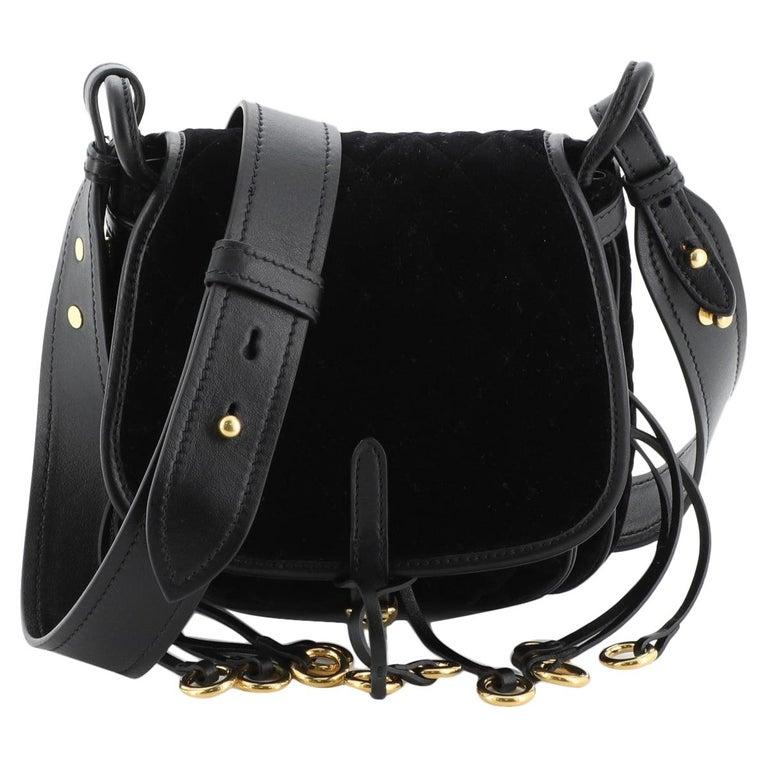 Prada Corsaire Shoulder Bag Quilted Velvet with Calfskin Small
