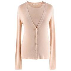Prada Cream Cashmere Knit Twin-Set - Size US 6