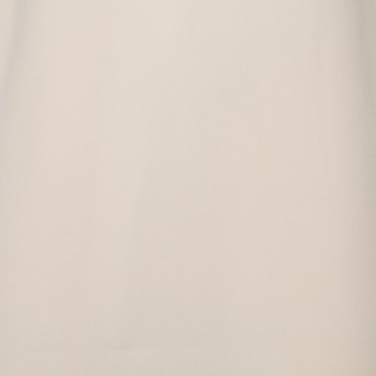 Prada Cream Cotton Sleeveless Midi Dress M 1