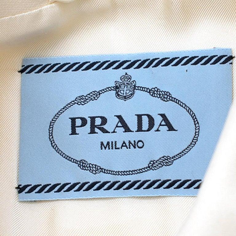 Prada Cream Sleeveless Wool Gilet SIZE 40 IT For Sale 1