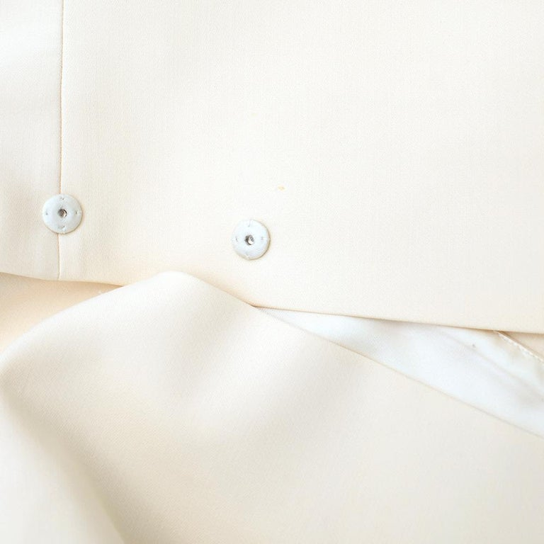 Prada Cream Sleeveless Wool Gilet SIZE 40 IT For Sale 3