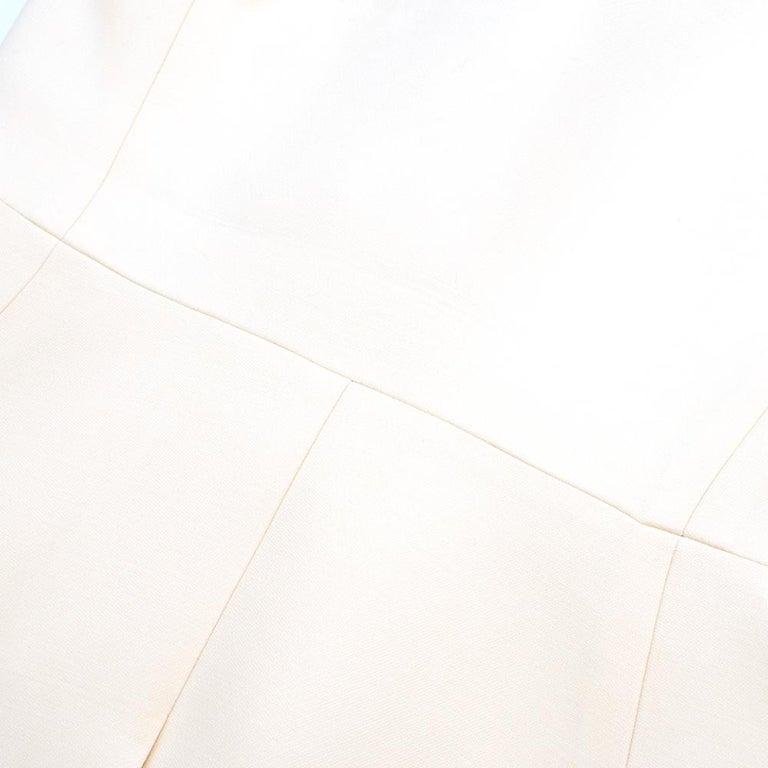 Prada Cream Sleeveless Wool Gilet SIZE 40 IT For Sale 5