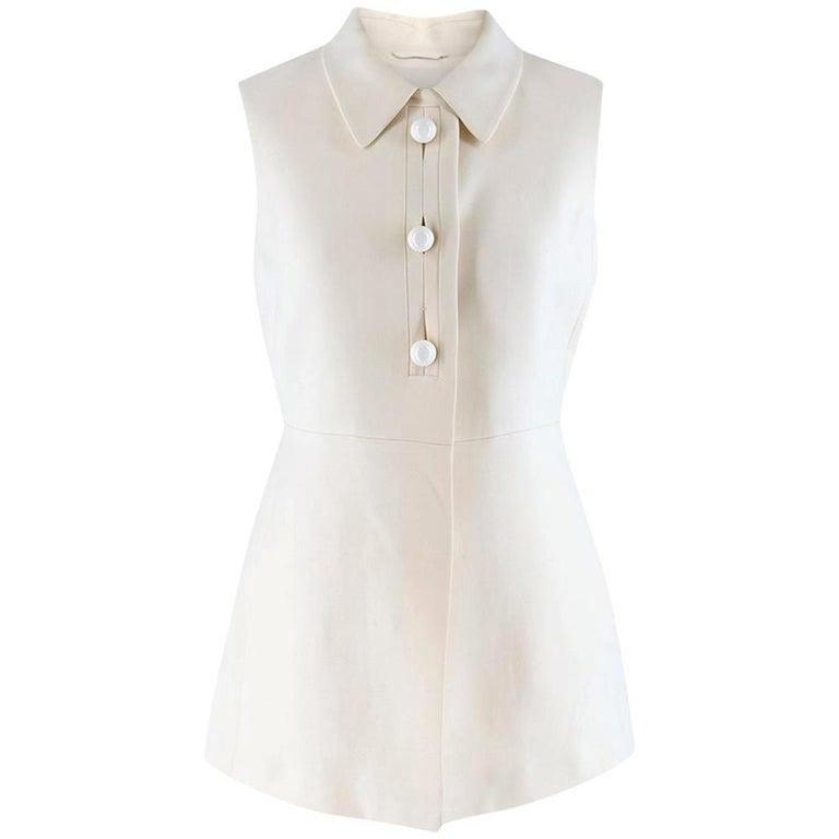 Prada Cream Sleeveless Wool Gilet SIZE 40 IT For Sale