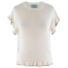 Prada Cream Wool blend Knit Top SIZE 38 IT