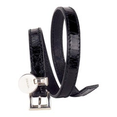 Prada Crocodile Wrap around Bracelet
