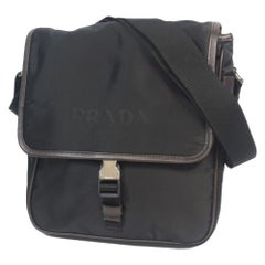 PRADA cross body Mens shoulder bag VA0770 black x brown