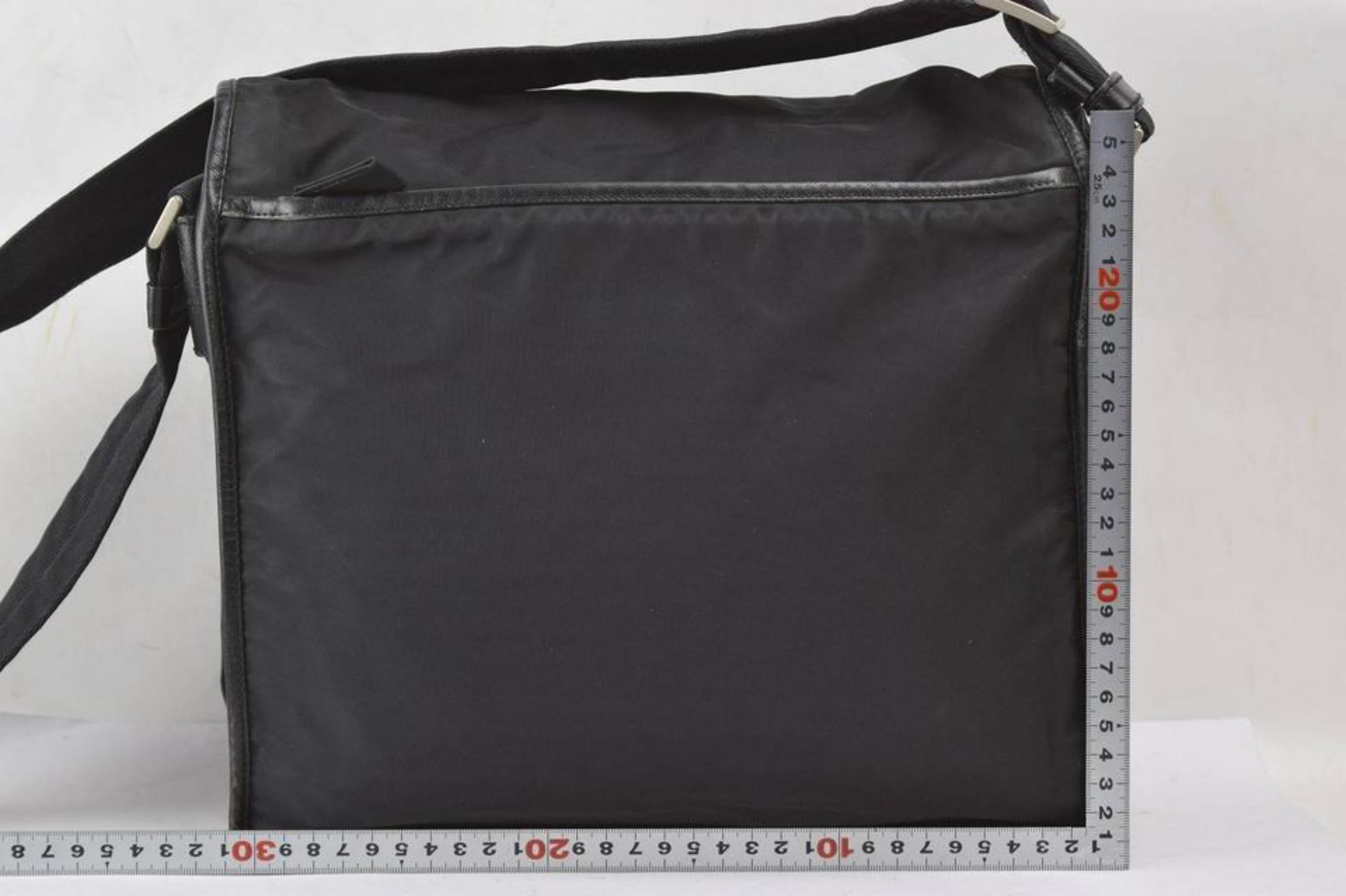 c9a0e7c0aadd6c Prada Crossbody Messenger 867319 Black Nylon Laptop Bag For Sale at 1stdibs
