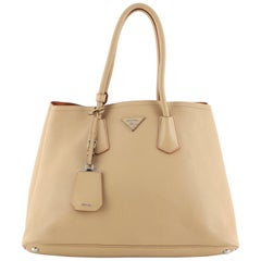 Prada Cuir Double Tote City Calfskin Large