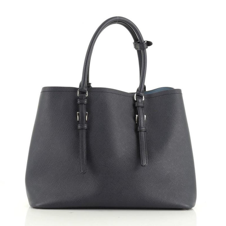 Women's or Men's Prada Cuir Double Tote Saffiano Leather Large  For Sale