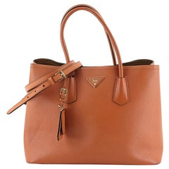 Prada Cuir Double Tote Saffiano Leather Large