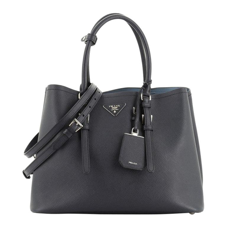 Prada Cuir Double Tote Saffiano Leather Large  For Sale